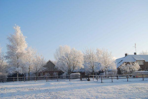 molenkolk in de winter