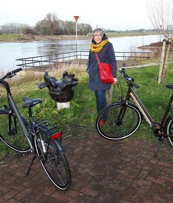 winter fietstocht langs de ijssel